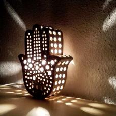 Hamsa hand lamp